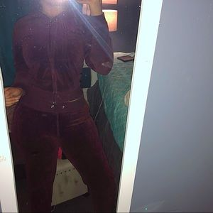 New York & Company Other - Velour Tracksuit Maroon
